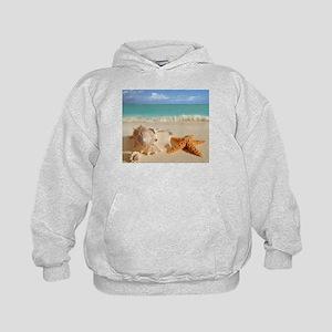 Seashell And Starfish On Beach Hoody