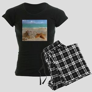 Seashell And Starfish On Beach pajamas