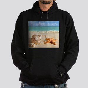 Seashell And Starfish On Beach Hoody