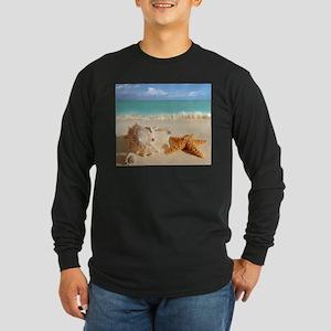 Seashell And Starfish On Beach Long Sleeve T-Shirt