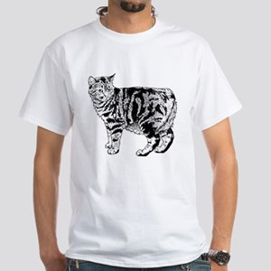 Manx Cat White T-Shirt