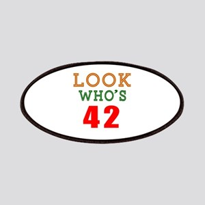 Look Who's 42 Birthday Patch