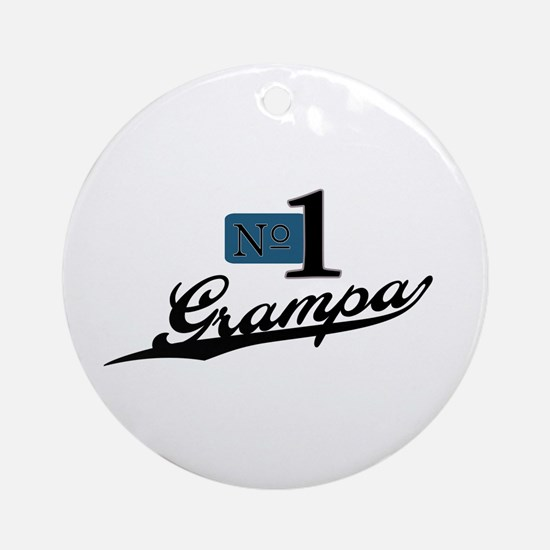 Number One Grampa Ornament (Round)