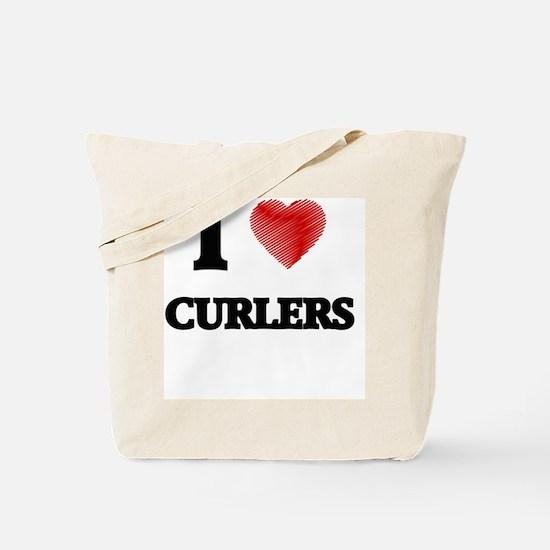 I love Curlers Tote Bag