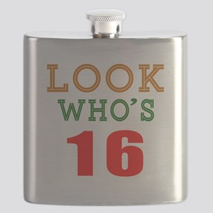 Look Who's 16 Birthday Flask
