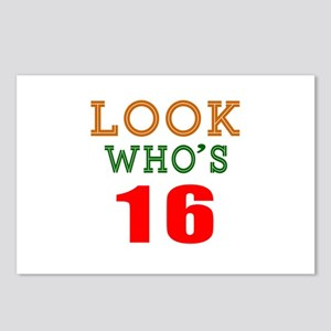 Look Who's 16 Birthday Postcards (Package of 8)