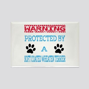 Warning Protected by a Soft Coate Rectangle Magnet