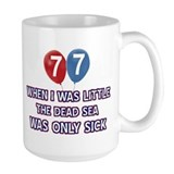 77th birthday Large Mugs (15 oz)