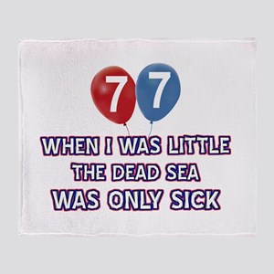 77 year old dead sea designs Throw Blanket