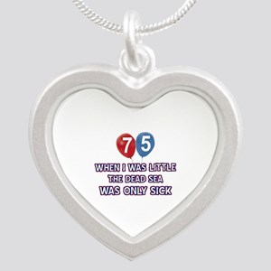 75 year old dead sea designs Silver Heart Necklace