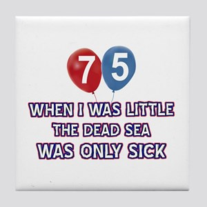 75 year old dead sea designs Tile Coaster