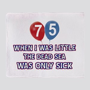 75 year old dead sea designs Throw Blanket