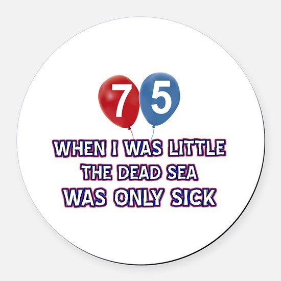 75 year old dead sea designs Round Car Magnet