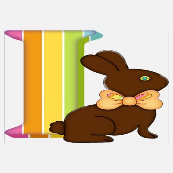 Funny Rabbit easter bunny chocolate make mine chocolate Wall Art