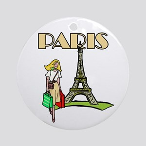 Paris Woman Ornament (Round)