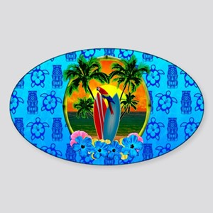 Tiki Tropical Sunset Sticker