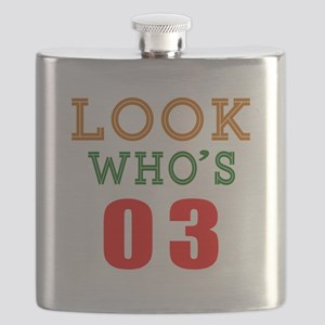 Look Who's 03 Birthday Flask
