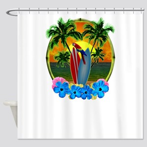 Tropical SunsetTropical Sunset Shower Curtain