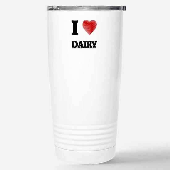 I love Dairy Stainless Steel Travel Mug
