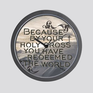 Your Holy Cross Wall Clock