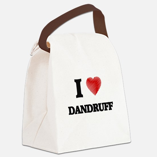 I love Dandruff Canvas Lunch Bag