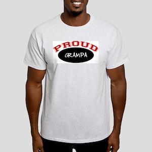 Proud Grampa (red & black) Ash Grey T-Shirt