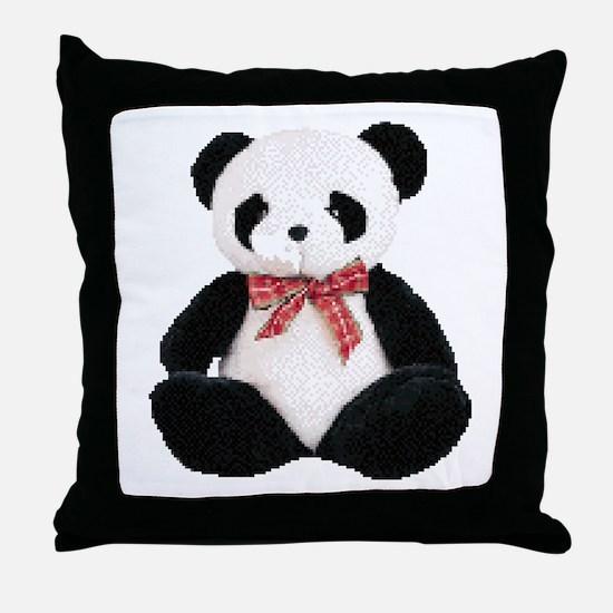Cute Stuffed Panda Throw Pillow