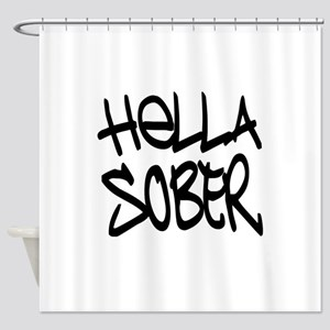 HellaSober Shower Curtain