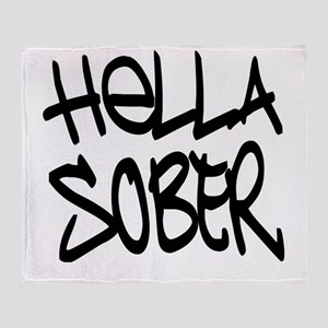 HellaSober Throw Blanket
