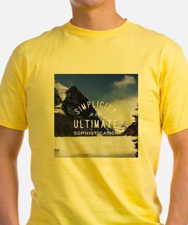 winter mountain simplicity typography T-Shirt