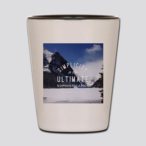 hipster mountain simplicity typography Shot Glass