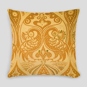 Ornamental Lovebirds Decorative Ye Everyday Pillow