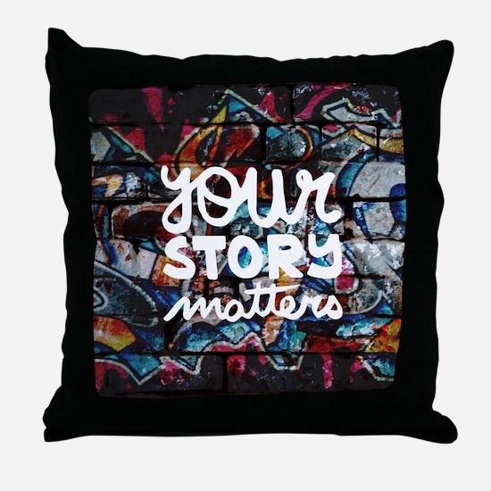Cute Graffiti Throw Pillow