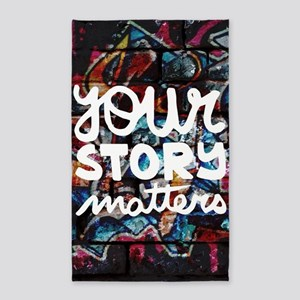 your story matters graffiti hip hop Area Rug