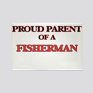 Proud Parent of a Fisherman Magnets