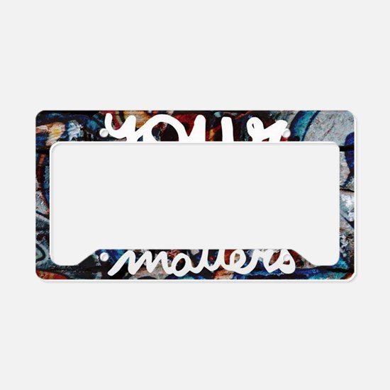 your story matters graffiti h License Plate Holder