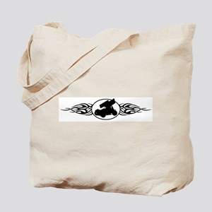 Sprint Car Flames Tote Bag