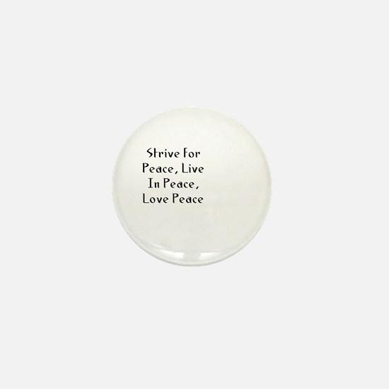 Strive for Peace, Live In Pea Mini Button