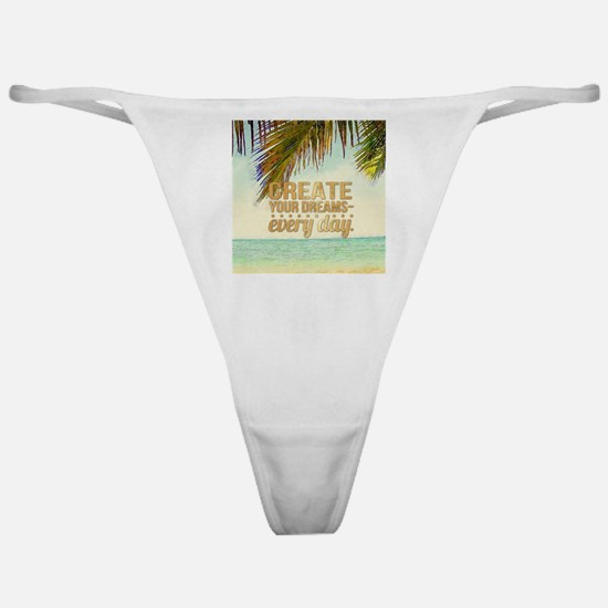 tropical follow your dream Classic Thong