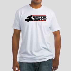 Gettin Dirty -Red Fitted T-Shirt