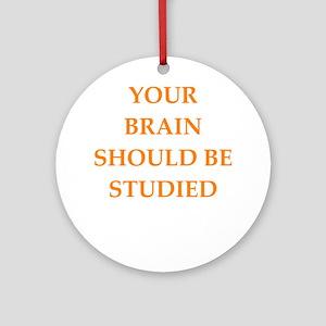 brain Round Ornament