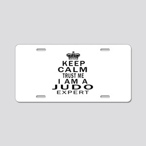 Judo Expert Designs Aluminum License Plate