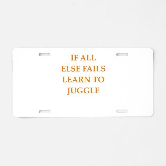 fails Aluminum License Plate