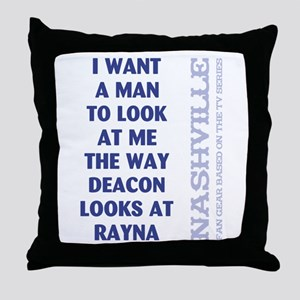 I WANT A MAN... Throw Pillow