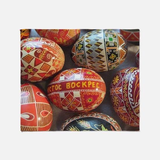 Ukrainian easter egg Throw Blanket