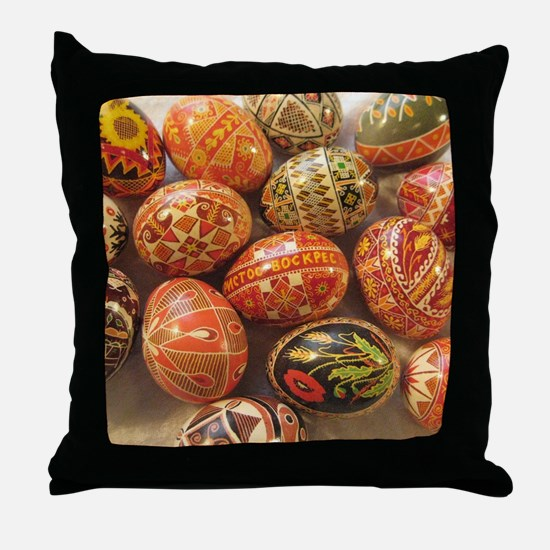 Unique Easter egg Throw Pillow