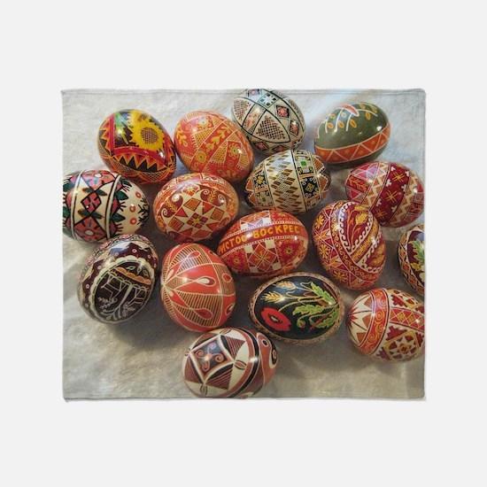 Cute Ukrainian easter egg Throw Blanket