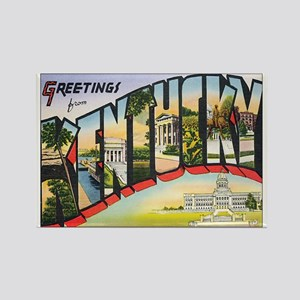 Kentucky Postcard Rectangle Magnet