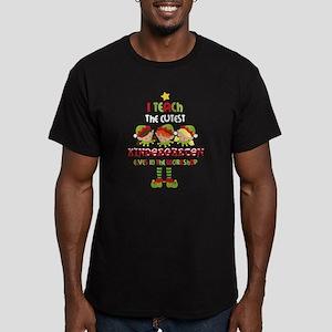 Elves Kindergarten Tea Men's Fitted T-Shirt (dark)