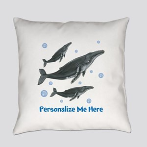 Personalized Humpback Whale Everyday Pillow